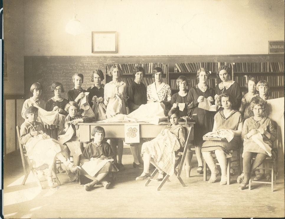 Cicero Union School 4-H meeting 1927
