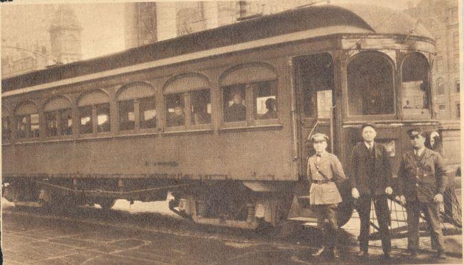 Final Trolley, May 1932 at Clinton Square