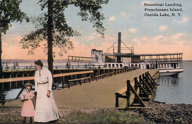 Steamboat Landing at Frenchman's Island in 1910