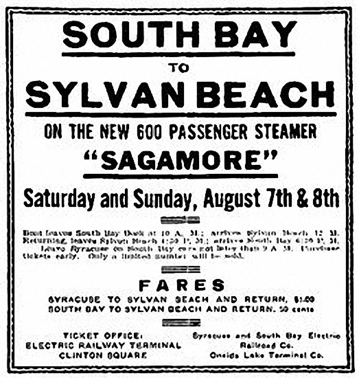 Syracuse to South Bay sign - 1909