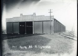 Trolley Barn, N. Syracuse (where N. Syr Library now stands)