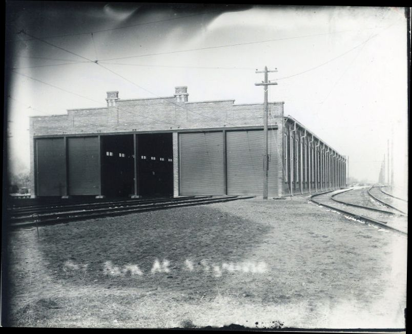Trolley Barn, N. Syracuse (where N. Syr Library now stands)