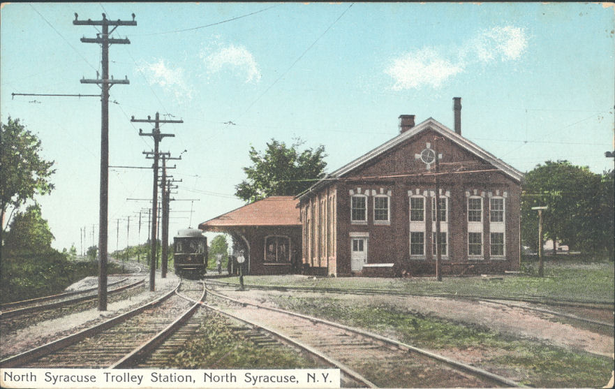 Trolley Station at what is now S. Bay and Church St.